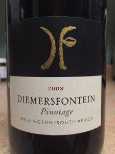 2008 Diemersfontein Wellington South Africa Pinotage