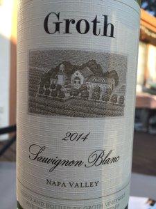 2014 Groth Wines Napa Valley Sauvignon Blanc
