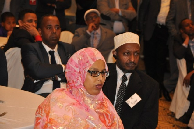 Somalis listen to King  Burhan at the Ramada in Minneapolis. Photo: Issa Mansray/The AfricaPaper