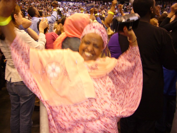 An Elder Somali supporting Obama in Minneapolis, 2008. Photo: (c) The AfricaPaper