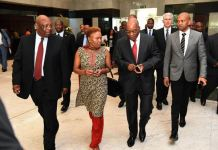 President Zuma and Minister Zulu at South African Chamber of Commerce & Industry annual convention, 23 Oct 2014. Photos courtesy of South African Government