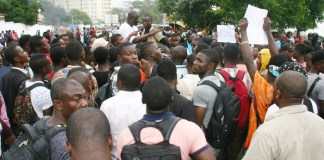 Student Protest in Liberia. Photo James Fasuekoi /The AfricaPaper