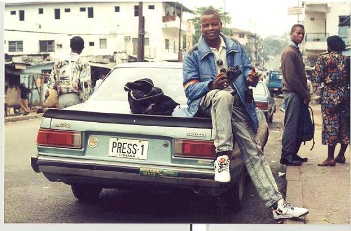 James Fasuekoi as a War Photojournalist. Photo: Fasuekoi/The AfricaPaper Archive