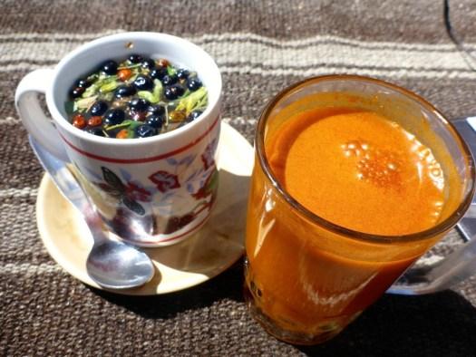 """herbal Tea"" and Sea Buckthorn Juice"