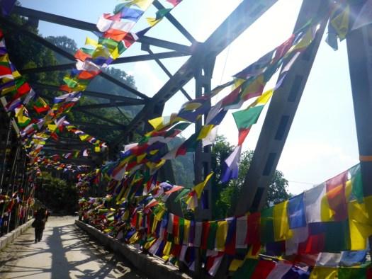 The Bridge in Birethanti, Nepal.