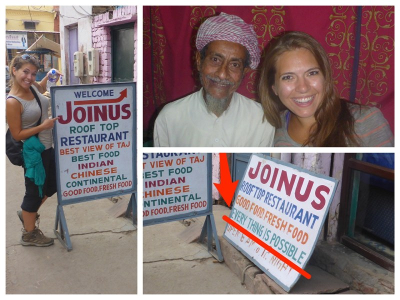 Everything is Possible at Join Us Cafe in Agra, India