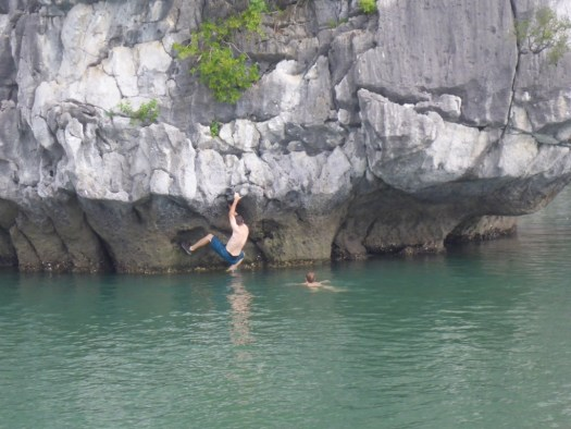 Deep Water Soloing Ha Long Bay, Cat Ba Town, Vietnam