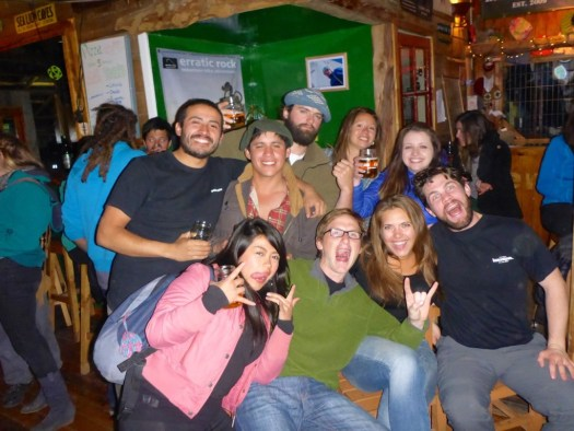 Rocking at Base Camp - Puerto Natales, Chile