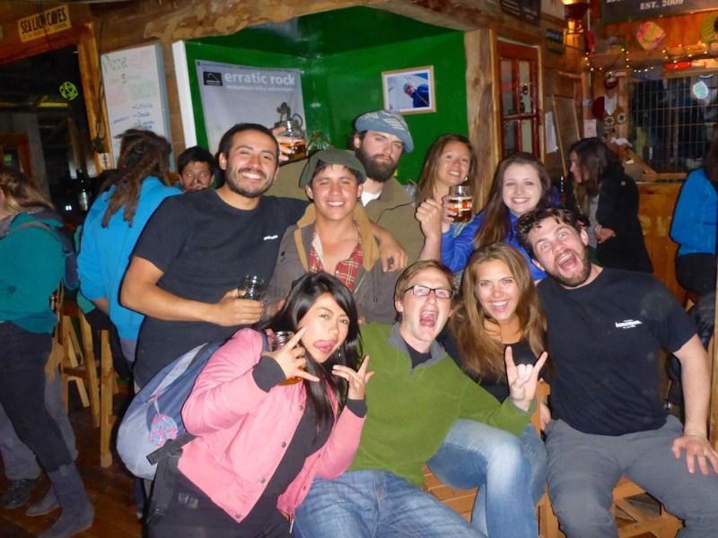 Rocking at Base Camp - Puerto Natales, Chile