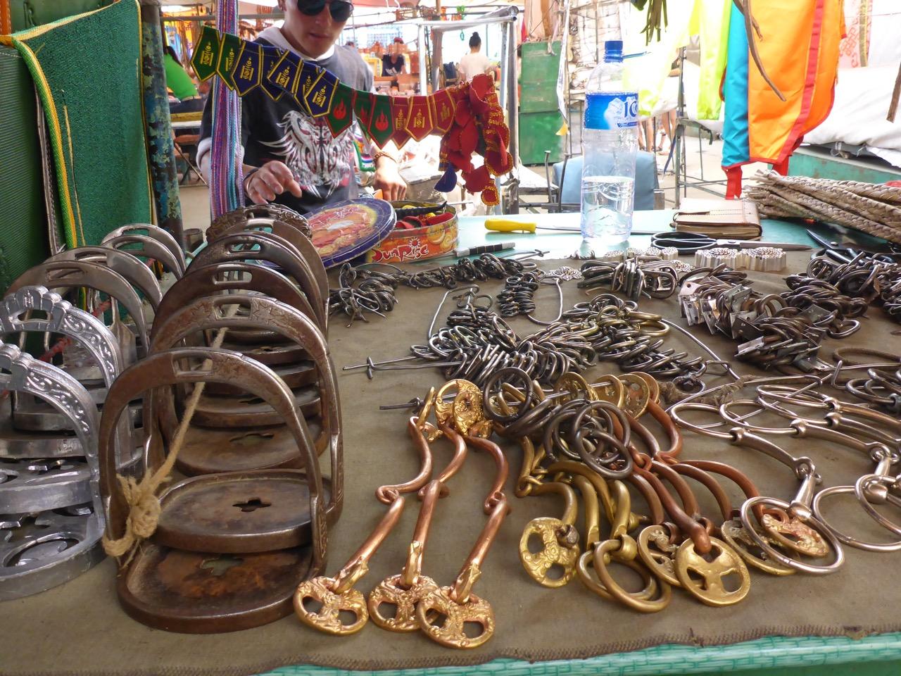 Tack at the black market in UlaanBataar