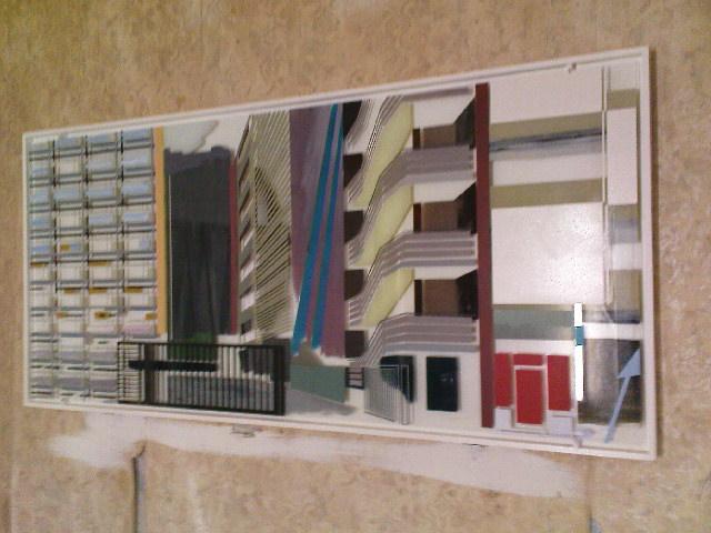 """Gängeviertel - Mark Matthes: """"In echt"""" viel besser als hier zu sehen. Auf- und unter Glasmalerei."""