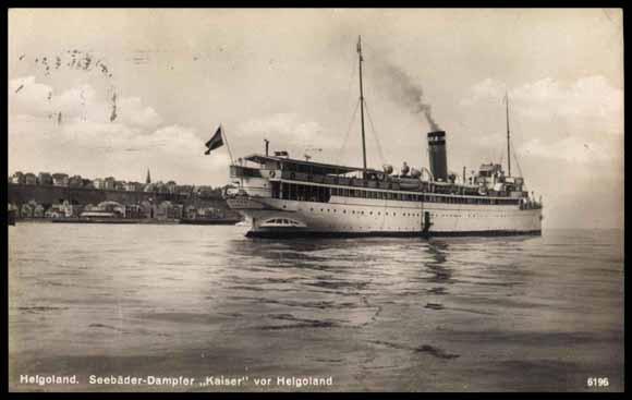 Seebäder-Dampfer Kaiser vor Helgoland (1934) - Etwas komfortabler wird die Anreise schon werden...