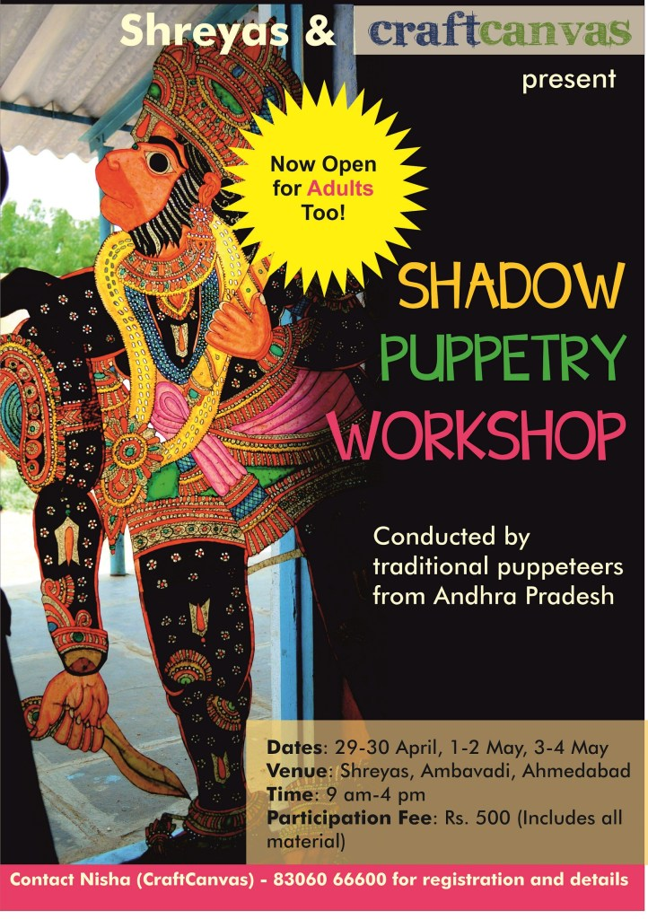 Shadow Puppetry Workshop in Ahmedabad