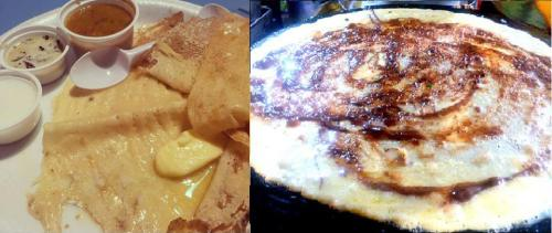 Gwalior Dosa and Chocolate Gwalior Dosa at Balan Dosa