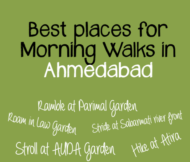 Delightful morning walks in Ahmedabad
