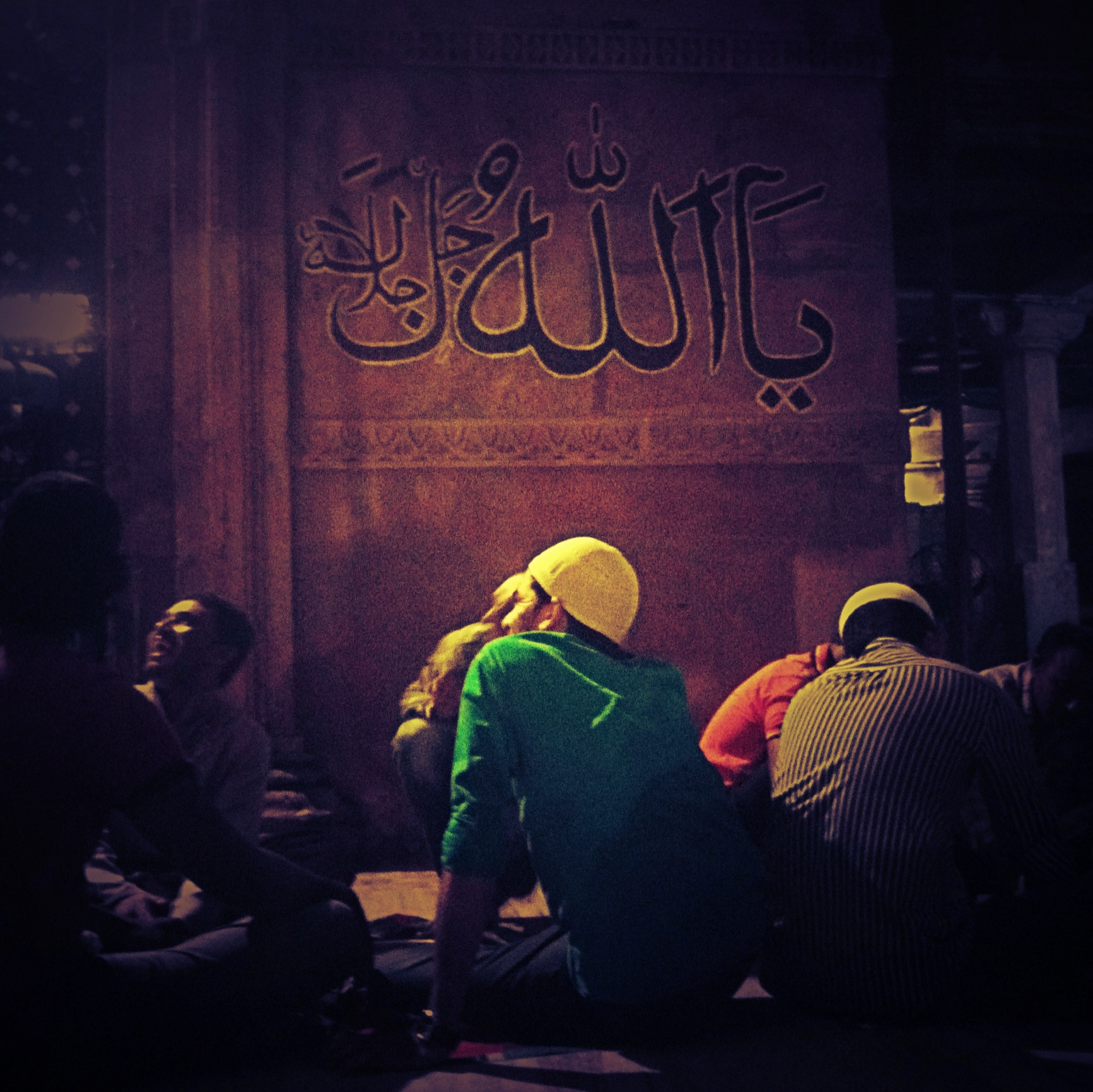 Photo © Aersh | Sehri at a mosque in Ahmedabad