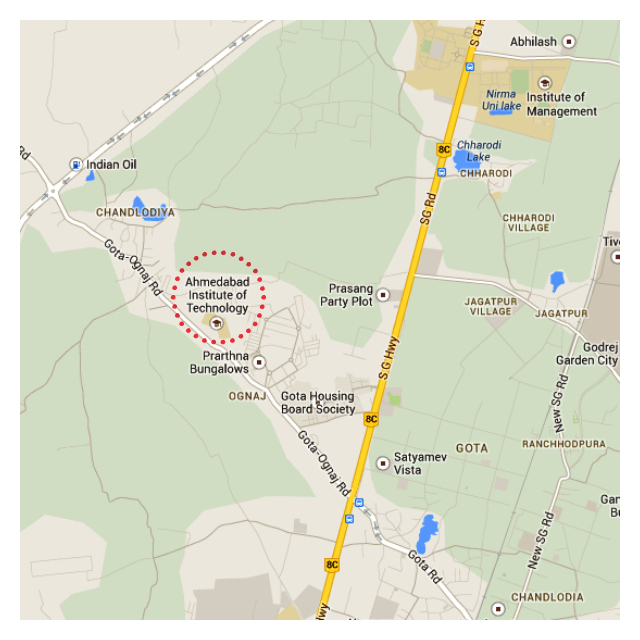 Ahmedabad Institute of Technology (AIT), Ahmedabad Map