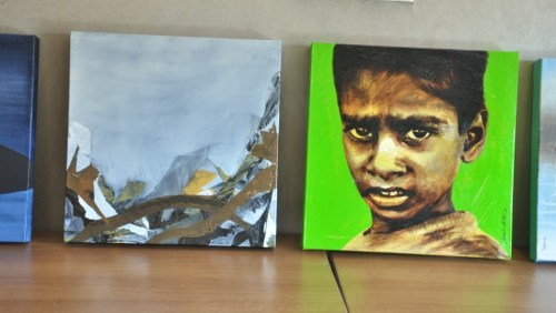 Paintings created by participants in the workshop in Ahmedabas