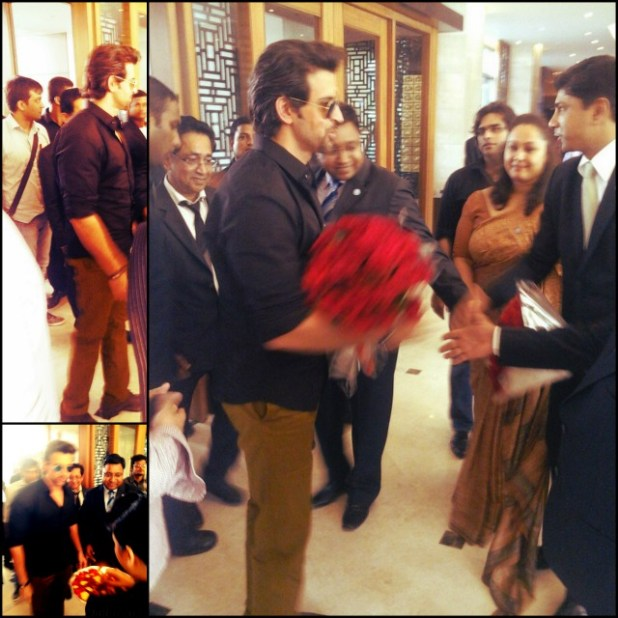Collage of Hrithik Roshan at Hyatt Ahmedabad