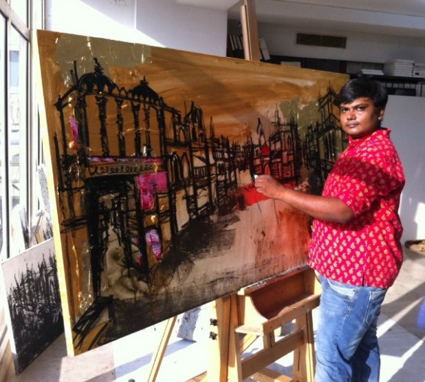 Harshil Patel: World Heritage Week painting based on Ahmedabad