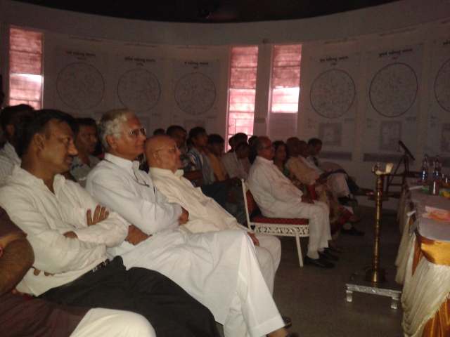 Vedhshala Ahmedabad: The Minister of Education watching the Mars Movie