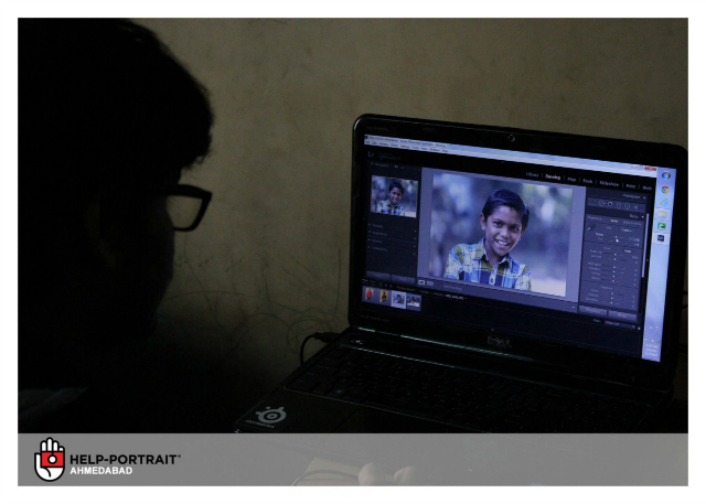 Help-Portrait Ahmedabad 2013: Editing of pictures