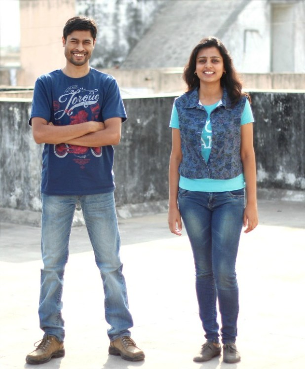 Menstrupedia founders: Aditi Gupta and Tuhin Paul