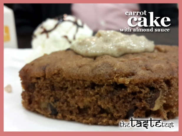 Nini's Kitchen in Ahmedabad: Carrot Cake with Almond Sauce