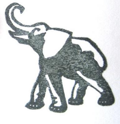 Elephant stamp