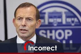 Tony Abbott lying it seems (image from abc.net.au)