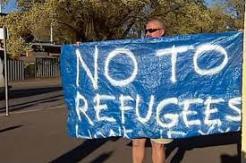 no to refugees