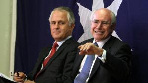 Malcolm Turnbull and John Howard (image from nws.com.au)