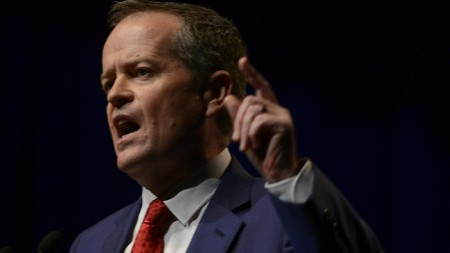 Opposition leader Bill Shorten speaks at the 2015 ALP National Conference (image from sbs.com.au)