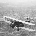 Curtiss B-2 in flight. (U.S. Air Force photo)