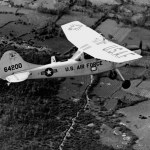 A U.S. Air Force Cessna 0-1E Bird Dog in flight over Vietnam in 1967. The aircraft was used as a forward air control aircraft throughout South Vietnam. The forward air controller (FAC) spotted suspected enemy strongholds and fired smoke rockets to mark the target for strike aircraft. Following a strike the FAC assessed bomb damage. (U.S. Air Force photo)