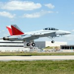 The first flight of the EA-18G Growler in August 2006
