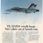 """A Texas Instruments advertisement for its AGM-88 """"HARM"""""""