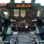 New C-5 cockpit avionics, installed under the Avionics Modernization Program