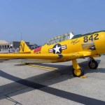 """A North American T-6 """"Texan"""" trainer. A modern trainer made by Beechcraft is also called the T-6 """"Texan."""" This is the original. (Air Cache photo/John M. Guilfoil)"""