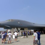 The B-1B bomber from the front (Air Cache photo/John M. Guilfoil)