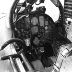 View of the cockpit of an U.S. Air Force Republic F-105D Thunderchief.