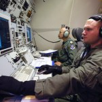 An E-3 Sentry system operator at work in 2008
