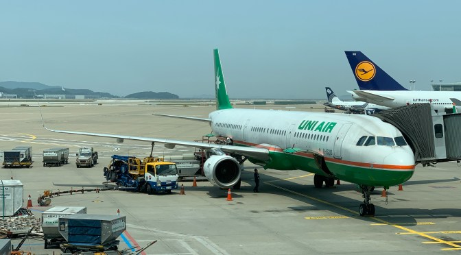 Review: UNI Air A321-200 Economy Class Taipei to Seoul Incheon