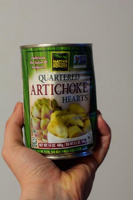 Canned Artichoke Hearts for Spinach Artichoke Dip!