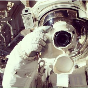 Christopher Cassidy Space Selfie 2013