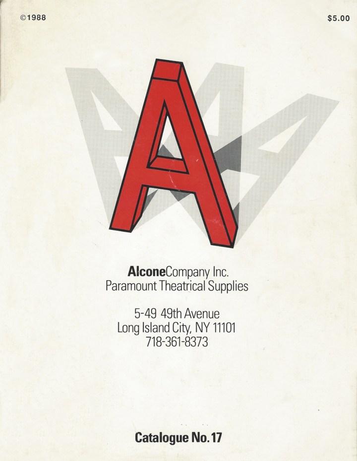 Alcone Company vintage makeup catalog 1988