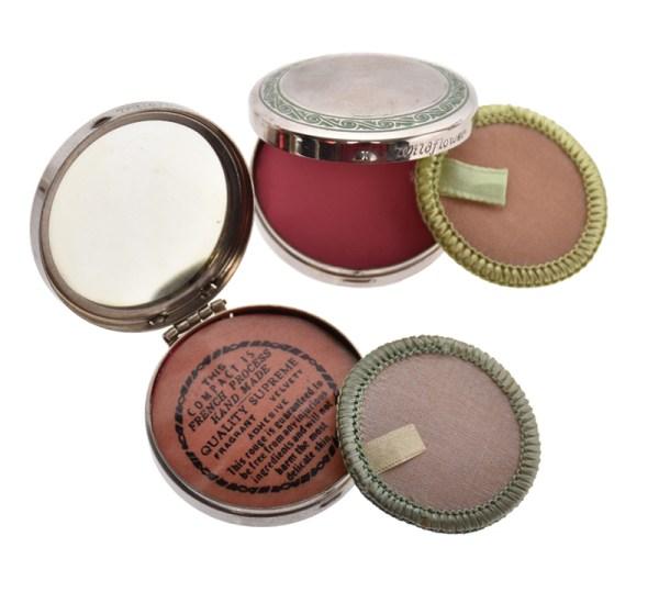 HSG Cosmetics rouge compacts vintage makeup
