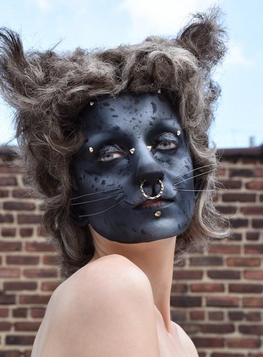 Punk Alley Cat Halloween makeup look