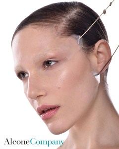 Model using Mark Traynor Face Lift Tapes