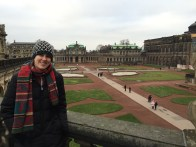 Checking out the Zwinger Palace for the first time.